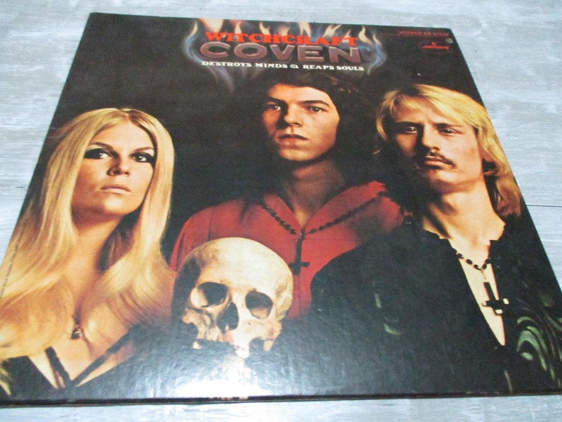 Rare 1969 Vinyl LP Record COVEN Witchcraft Destroys Minds & Reaps Souls  Ultra Rare Very Good Condition 18893