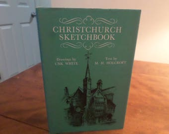 Vintage 1968 Hardcover Book Christchurch Sketchbook w/Dust Jacket Excellent Condition First Edition
