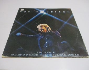 Vintage 1974 Vinyl LP Record Set It's Too Late To Stop Now Van Morrison Very Good Condition 41604