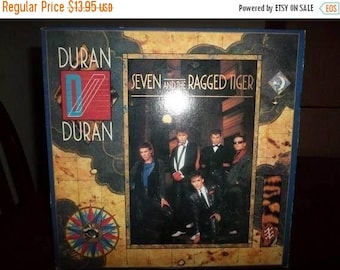 Save 30% Today 1983 Vintage Duran Duran LP Record Seven and the Ragged Tiger Near Mint Condition 6969