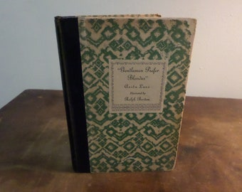 Vintage 1927 Hardcover Book Gentlemen Prefer Blondes Anita Loos Illustrated First Edition Excellent Condition