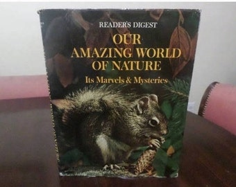 Vintage 1969 Hardcover Book Our Amazing World of Nature It's Marvels & Mysteries w/Dust Jacket