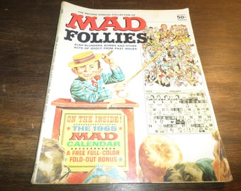 Vintage 1964 Mad Magazine 2nd Annual Mad Follies Complete Excellent Condition