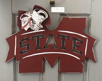 Mississippi State Door Hanger
