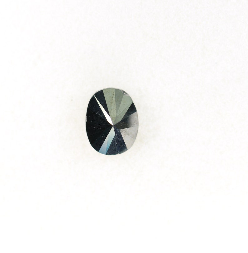 1.03 CT Black Oval Diamond for Engagement Ring