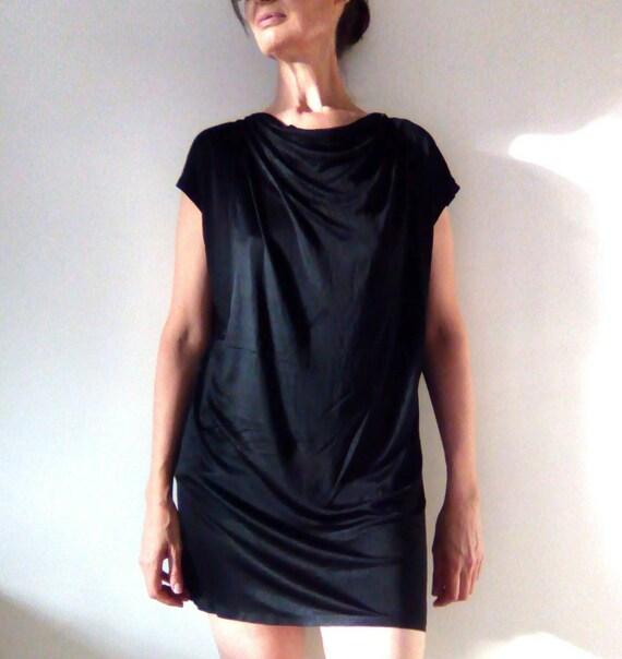 Cowl Neck Dress Little Black Dress Evening Dress Etsy