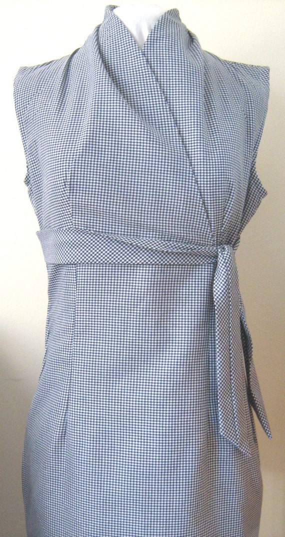 Womens Gingham Dress, Midi Dress, Plus size Dress, Fuller Figure Dress,  South African Shop, made to order
