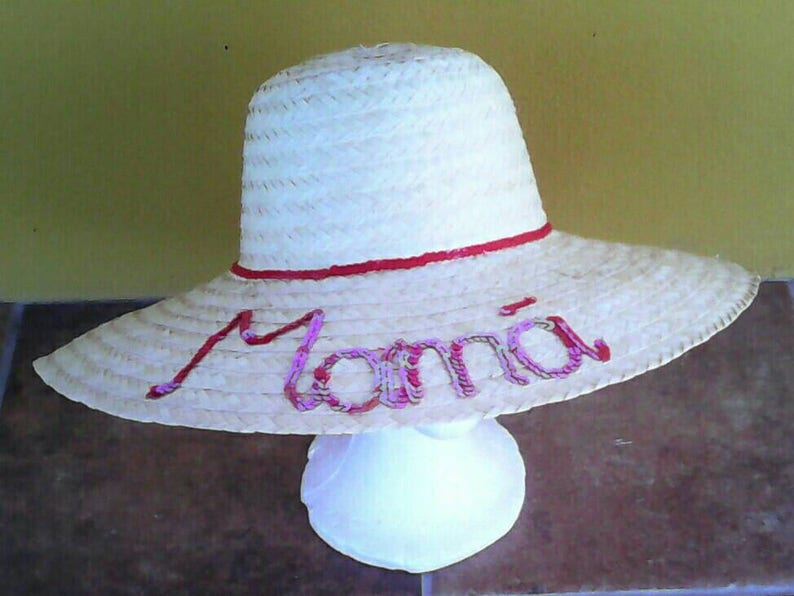 83389daf27836 Pamela personalizada Pamela paja Pamela verano Sombrero