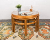 Mid Century Coffee Table and Three nesting tables 39 Trinity 39 by Nathan Furniture