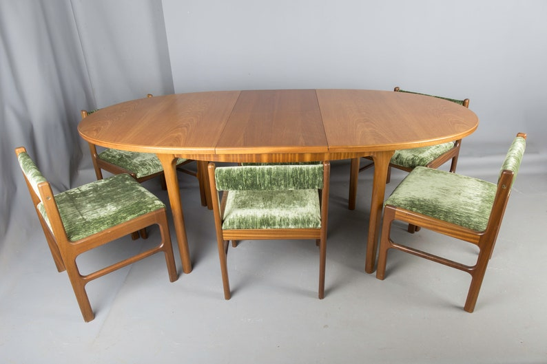 Teak Retro Dining Table & 4 Chairs By McIntosh Vintage 1960\'S