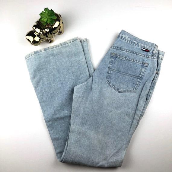 81cd0b87 Vintage Light Wash Tommy Hilfiger Jeans-Size 9 31 | Etsy