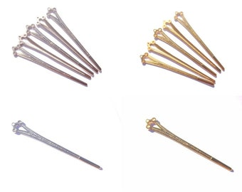 Hair pins to decorate color and quantity choice 12.8 cm high x approx 2 cm width max, fascinator, hair ornament