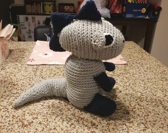 Large Crochet Dinosaur