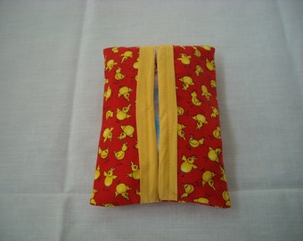 Yellow Chickens Travel Size Tissue Holder