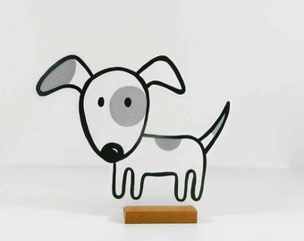 Wooden dog Spotty. Ideal pet. Looks very cute!