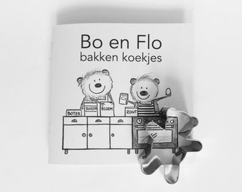 Cookie Cutter Set: little book about hamsters baking cookies, cookiecutter included. DUTCH version. Makes great cookies.