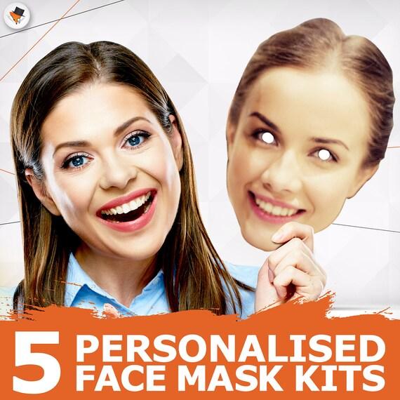 pre-tagliati pronti da indossare 5 partito personalizzato Viso Maschere