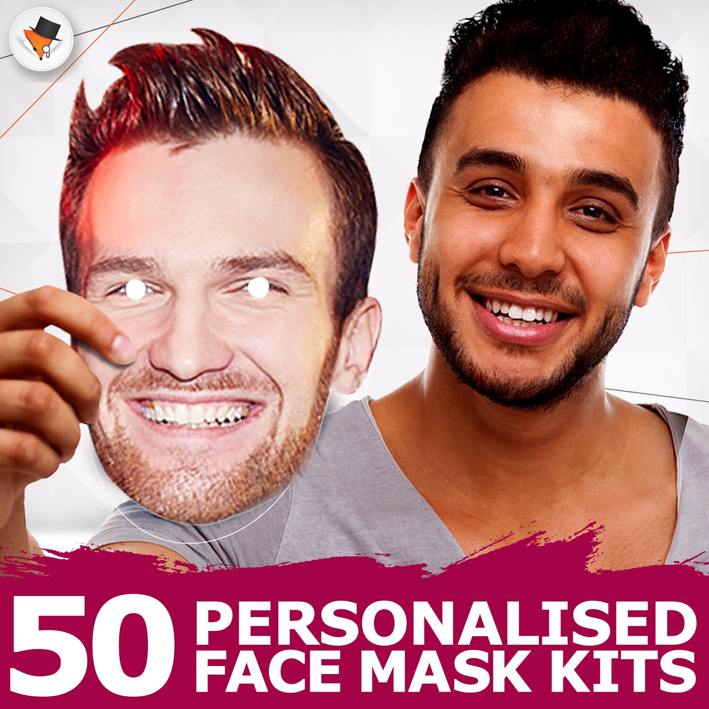 Personalised Face Masks Hen Do Mask Stag Night Masks Party Masks Photo Masks