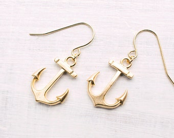 Gilded Anchor Earrings