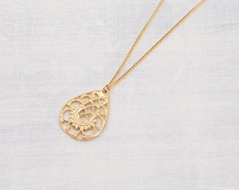Gold plated necklace ornament