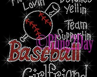Baseball aunt bling | Etsy