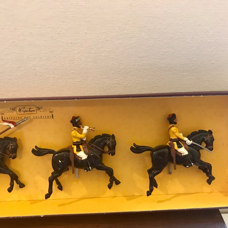 W.Britian 1st Duke of York/'s Own Lancers Britians Toy Soldiers in Original Box with Original Labels Vintage Toy Soldiers Skinner Horse