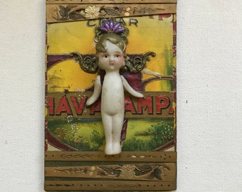 "Original Mixed-media ""The Little Imp from Havanna"" by Debbie Siday"