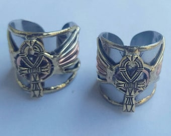 2 Ancient Egyptian Ankh Rings.