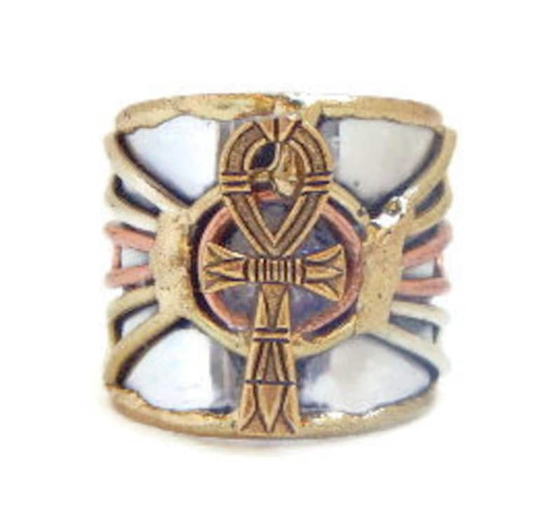 Ankh Eternal Life Ancient Egyptian Ring. image 0