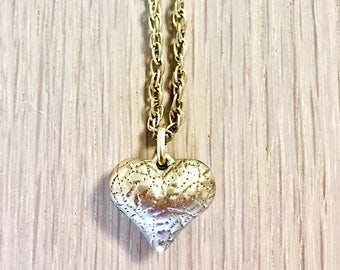 Gold chain with heart