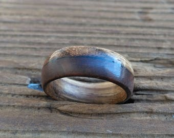Wooden Ring  Zebra Wood and Walnut