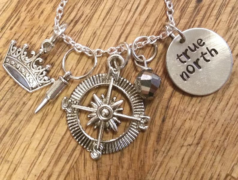 The 100-Bellarke True North hand stamped necklace-Bellamy Blake and Clarke  Griffin