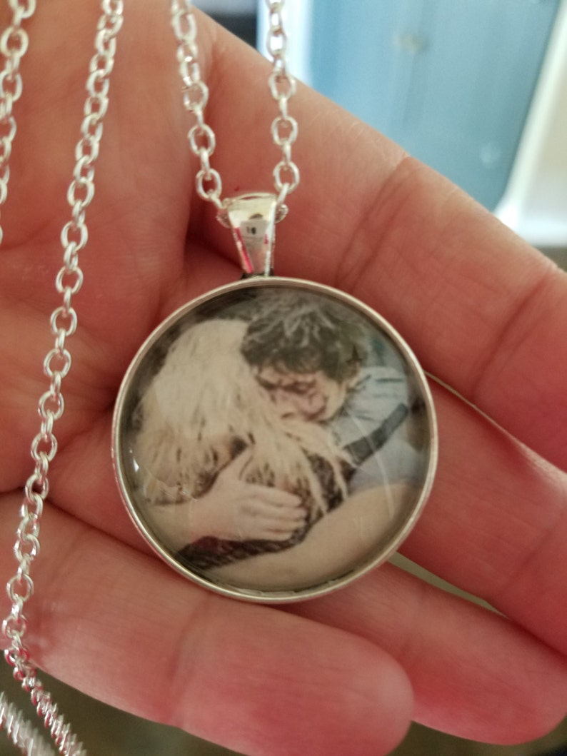 The 100- Bellarke hug glass cabochon pendant or keychain- Bellamy Blake and  Clarke Griffin