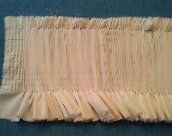 Ready to smock pleated insert panel with 10 rows