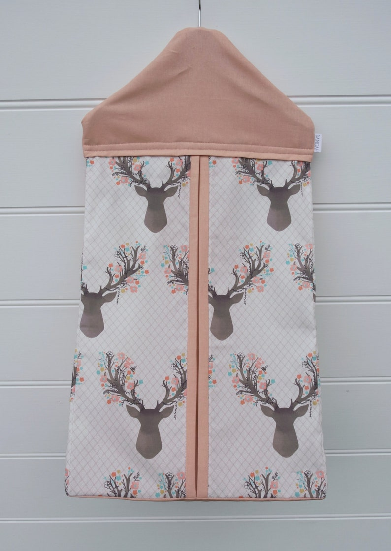 Cot quilt  blanket with deer head and pastel flowers fully reversible