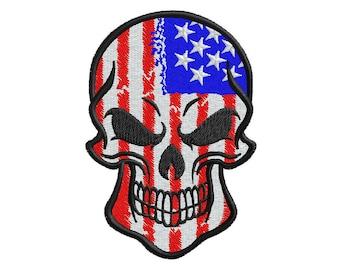 american flag skull etsy