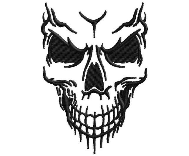 Skull Embroidery Design Etsy