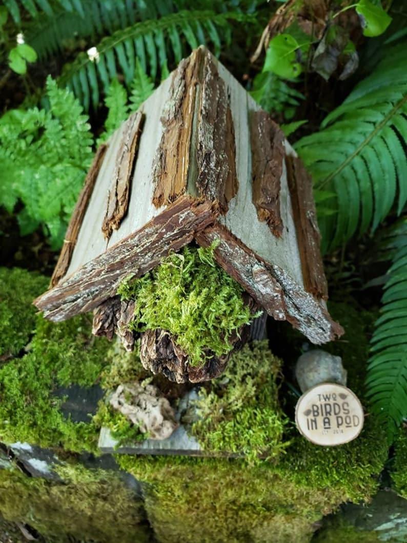 hobbit birdhouse whimsical birdhouse fairy birdhouse Rustic birdhouse