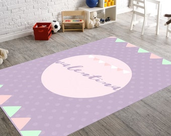 Polka Dot Rug, Kids Room Rug, Boy Nursery Decor, Girl Nursery Decor, Rugs  For Nursery, Baby Gifts Personalized, Personalized Mat, Kids Rugs