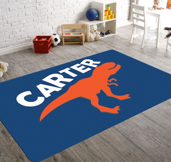 Dinosaur Rug T Rex Rugs For Boys Room Monogram Rug Etsy