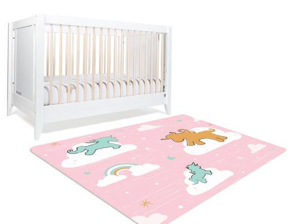 Unicorn Rug Cloud Rug Unicorn Nursery Decor Playroom Rug Etsy