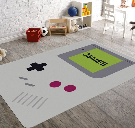 Video Game Rug Gameboy Game Room Rug Name Rugs Playroom Etsy