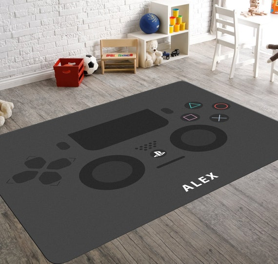 Playstation Rug Video Game Rug Play Station Room Decor Game Etsy