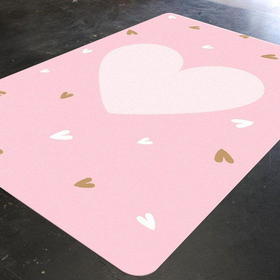 nursery rug heart rug pink and gold nursery decor baby girl etsy