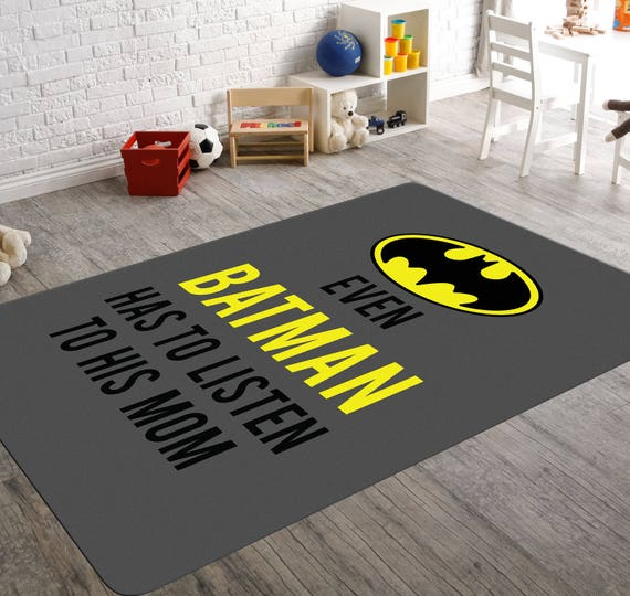 Batman Rug Batman Room Decor Childrens Rugs Batman Nursery Etsy