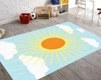 Sun Decor, Nursery Rug, Nursery Decor Boy, Baby Floor Mat, Sun Art, Nursery Area Rug, Neutral Nursery, Baby Nursery Decor, Gender Neutral
