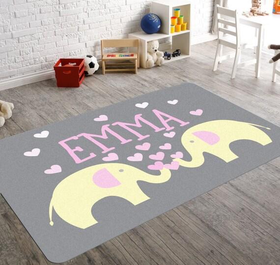 Elephant Rug Nursery Rug Elephant Nursery Decor Etsy