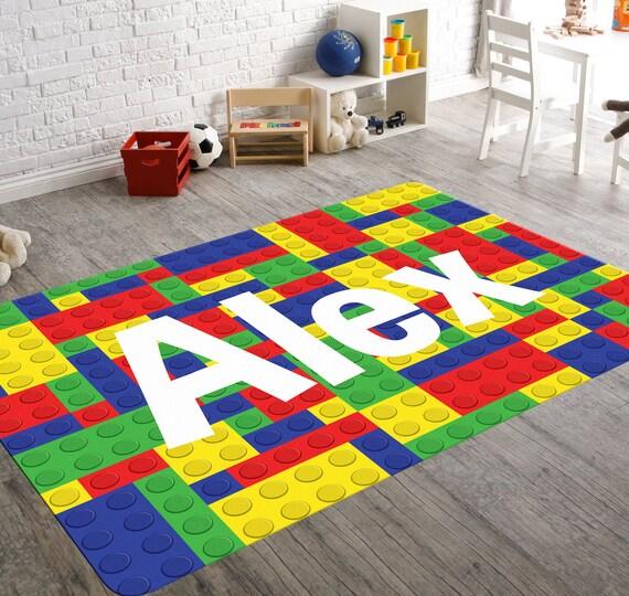 Lego Rug Lego Nursery Nursery Rug Game Room Rug Kids Rugs Etsy