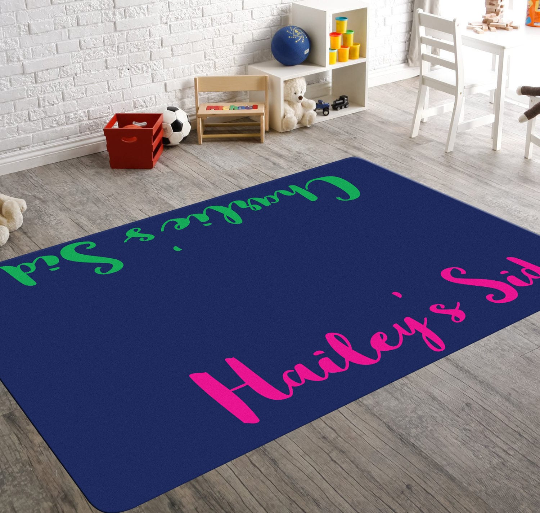 Custom Rug Name Nursery Decor Playroom Rug Personalized