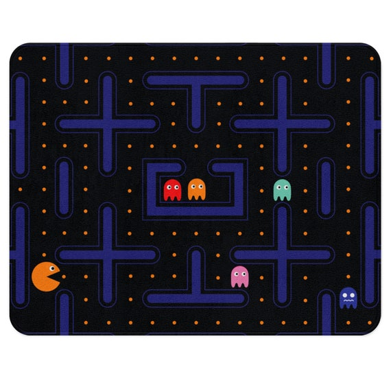 Video Game Rug Game Room Rug Pacman Decorations Video Game Etsy